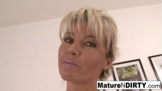 Blondie Granny Wants a Big Cock in Her Hairy Vagina