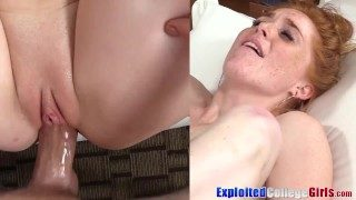 University Ginger Jayme Slammed and Sprayed By Huge Cock Semen